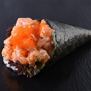 SPICY SALMON TEMAKI copy
